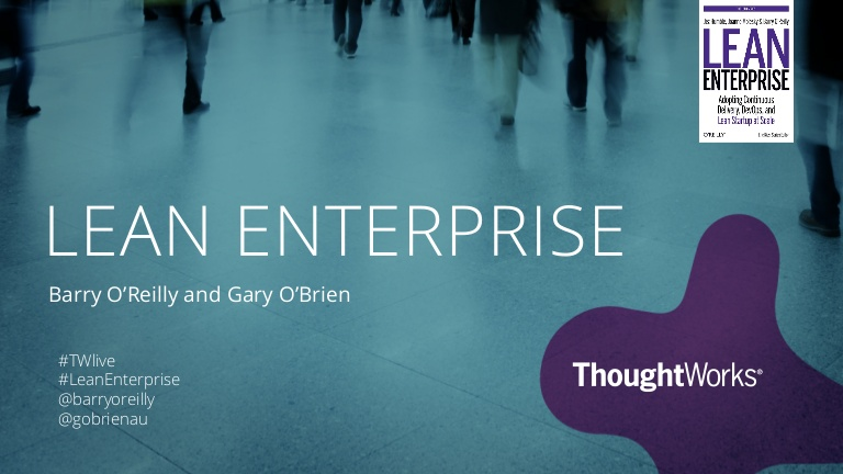 Opening keynote: Lean enterprise